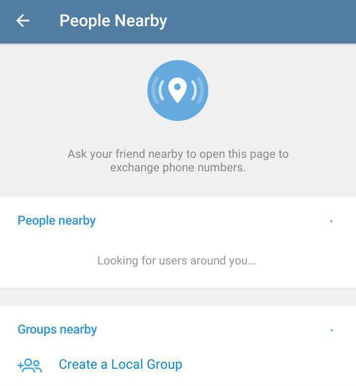 آموزش یافتن افراد نزدیک در اطراف در تلگرام